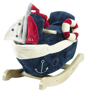 America Sailboat Nursery Rocking Chair
