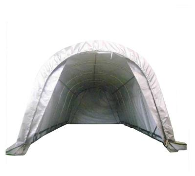 DELTA Canopies 20'x12' Carport Grey/White - Garage Storage Canopy Shed Car Truck Boat PE - Round