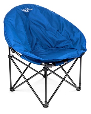 Lucky Bums Moon Camp Adult Indoor Outdoor Comfort Lightweight Durable Chair Carrying Case