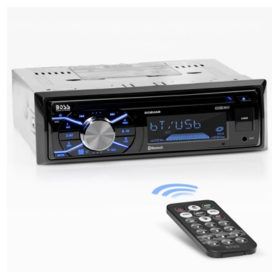 BOSS Audio Systems 508UAB Multimedia Car Stereo - Single Din, Bluetooth Audio Hands-Free Calling, Built-in Microphone, CD MP3 USB AUX Input, AM FM Radio Receiver, LCD Display, Wireless Remote Control