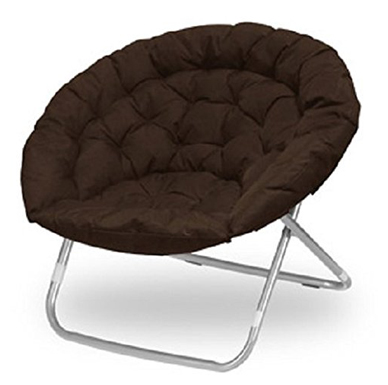 Urban Shop Brow Large Oversized Folding Moon Chair (Brown)