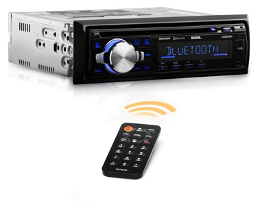 Sound Storm Labs SDC26B Car Stereo CD Player - Single Din Bluetooth Audio and Hands-Free Calling MP3 Player CD USB Port AUX Input AMFM Radio Receiver