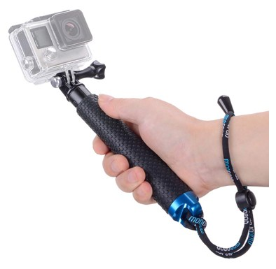 Vicdozia Portable Hand Grip Waterproof Extension Selfie Stick Handheld Monopod Adjustable Pole Compatible