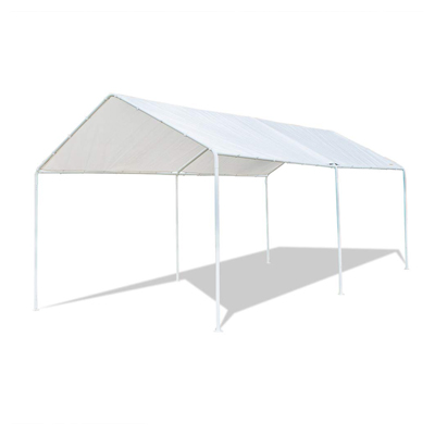 VINGLI 10'x20' Domain Carport Car Canopy, Upgraded Steady Metal Steel 6 Legs, ISO Anti UV Waterproof Panels Versatile Garage Vehicle Sunshine Shelter, Outdoor Party Tent Garden Gazebo, White