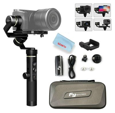 Feiyu G6 Plus 3-Axis Portable Handheld Gimbal Stabilizerfor Gopro, Xiaomi, Yi Cam 4K, Sony Rx0,iPhone X 8 7 Plus, Samsung S9 S8, and Any Cameras