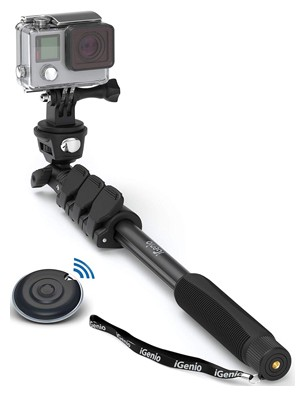 Professional 10-in-1 Monopod Selfie Stick for All GoPro Hero, Action Cameras, Cellphones