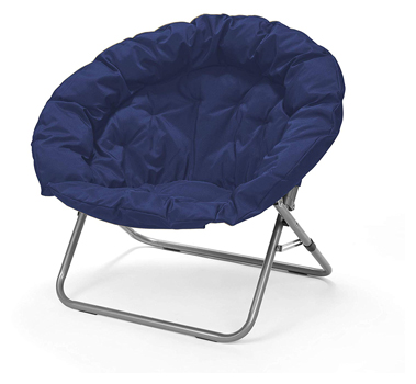 Navy Large Oversized Folding Moon Chair