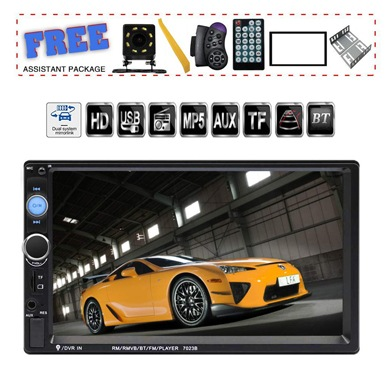 TDYJWELL 7-inch Double Din Touch Screen Car Stereo Upgrade the Latest Version MP5/4/3 Player FM Radio Video Support Backup Rear-View Camera Mirror Link
