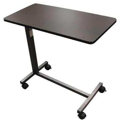 Drive Medical Non-Tilt Top Overbed Table, Silver Vein