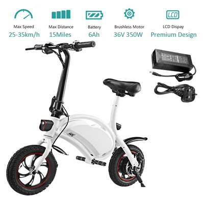 350W Folding Electric Bicycle with 15Mile Range Collapsible Lightweight