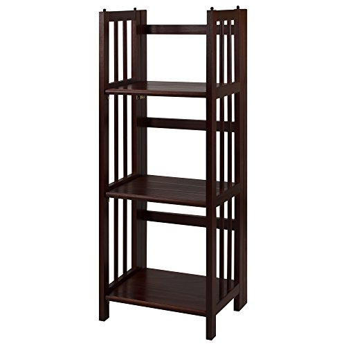 "CASUAL HOME 3-Shelf Folding Bookcase (14"" Wide)"