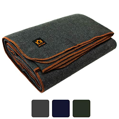 Arcturus Military Wool Blanket for Camping, Outdoors, Sporting Events