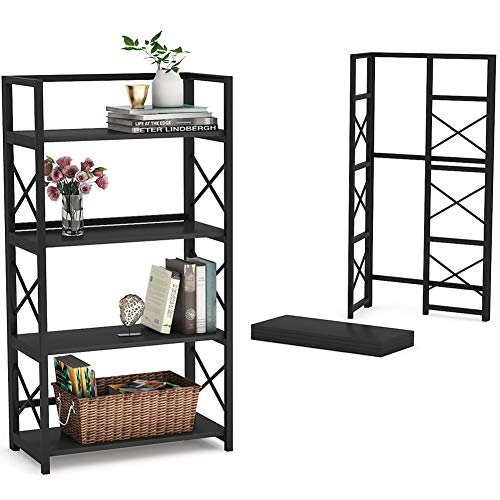 Tribesigns Folding Bookshelf Home Office Bookcase Easy Assembly Storage Shelves