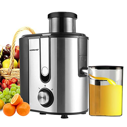 Centrifugal Juicer Machine, HERRCHEF 600W Compact Juice Extractor