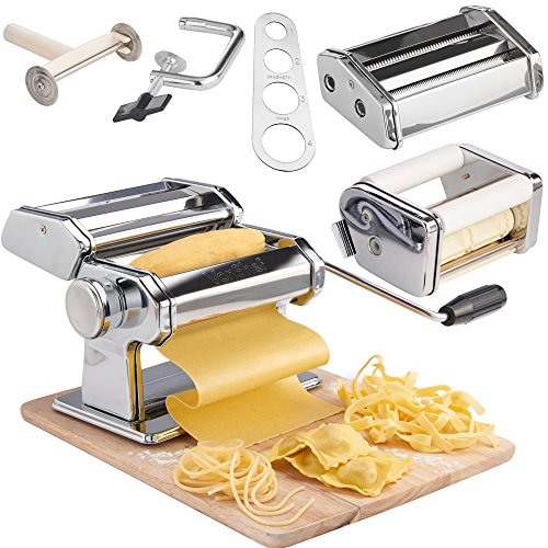 VonShef Pasta Maker with Three Cut Press Blade Settings