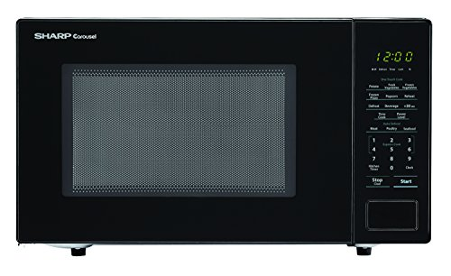 SHARP Black Carousel Countertop Microwave Oven