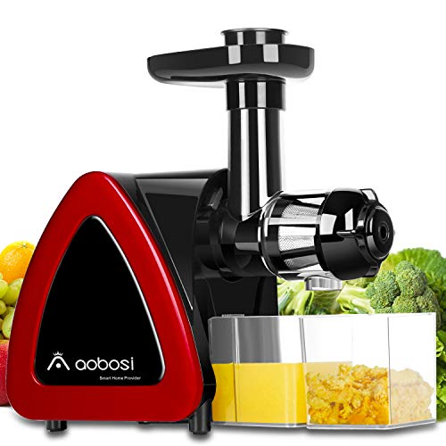 AOBOSI Slow Masticating Juicer Extractor with Brush for Cleaning