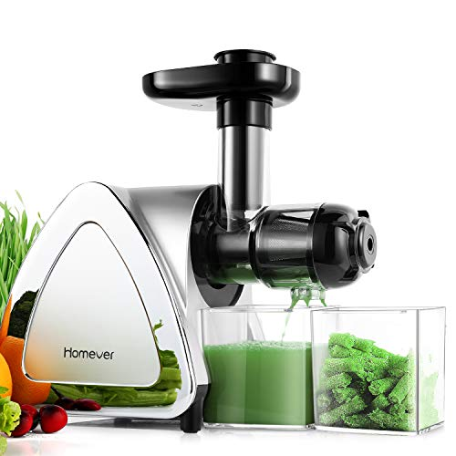 HOMEVER Slow Masticating Juicer Extractor with Reverse Function