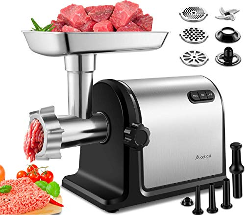 AOBOSI Electric Meat Grinder with One-Button Control