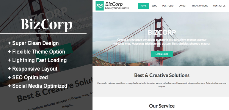 BizCorp - Best Wordpress Theme For Small Business