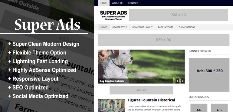 Super Ads - best adsense wordpress theme