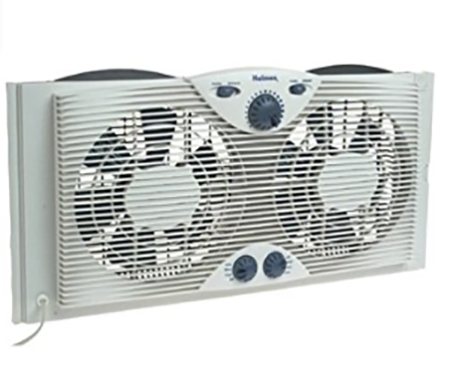 #5. Holmes Twin Window Fan with Comfort Control Thermostat