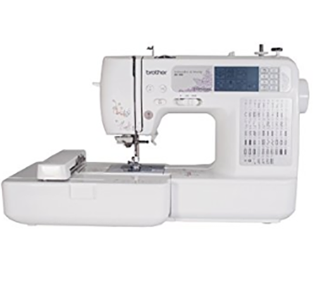 #4. Brother SE400 Combination Computerized Sewing and 4x4 Embroidery Machine With 67 Built-in Stitches, 70 Built-in Designs, 5 Lettering Fonts