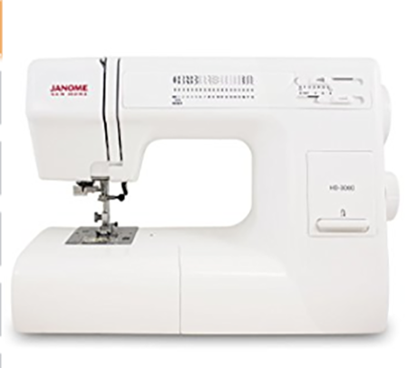 #8. Janome HD3000 Heavy-Duty Sewing Machine with 18 Built-In Stitches + Hard Case
