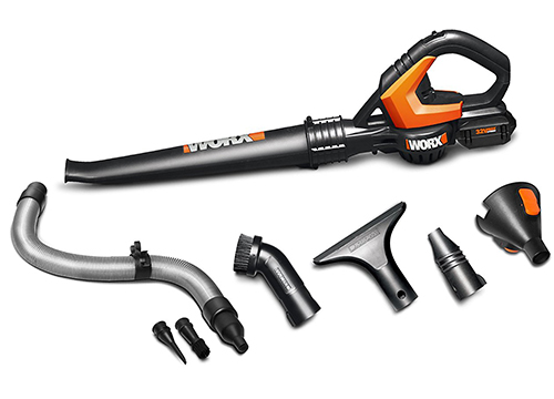 WORX 32-Volt AIR Multi-Purpose Blower/Sweeper/Cleaner with 8 Attachments