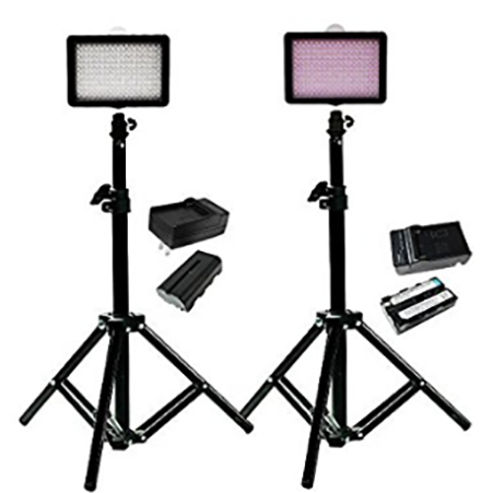 #8. Julius Studio 160 LED, including (2) 160 Dimmable Ultra High Power Panel Digital Camera DSLR Camcorder LED Video Light (2)28