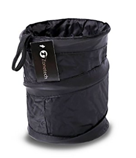 #3. Zone Tech Universal Traveling Portable Car Trash Can