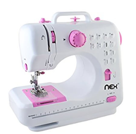 #10. NEX Sewing Machine Children Present Portable Crafting Mending Machine with 12 Built-In Stitched