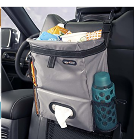 #4. High Road Puff'nStuff Car Trash Bag Organizer and Tissue Holder (Gray)