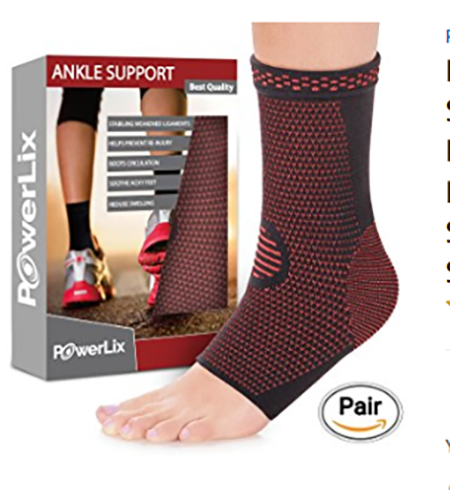 #9. PowerLix Ankle Brace Compression Support Sleeve