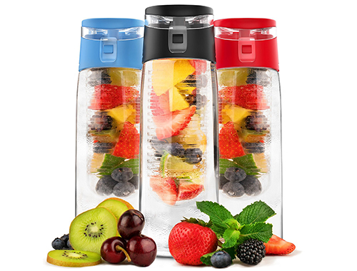 24 OZ Fruit Infuser Water Bottle By Vremi