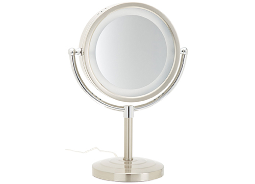 JERDON HALO LIGHTED MAKEUP MIRROR
