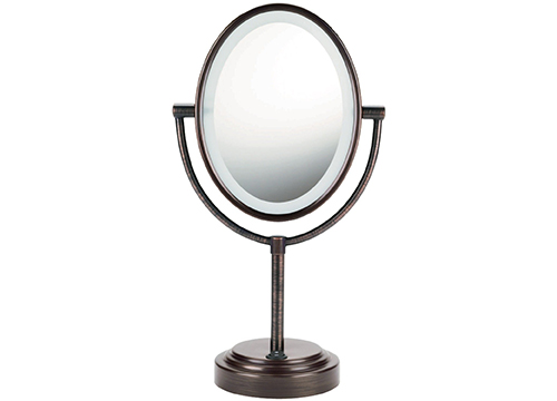 CONAL OVAL DOUBLE SIDED MAKEUP MIRROR