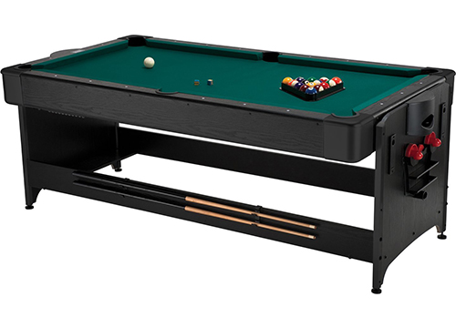 The Fat Cat Pockey 7ft Black 3-in-1 pool table