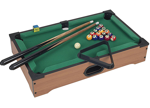 Trademark Mini Table Top Pool Table with Cues, Triangle and Chalk