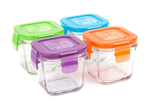 Wean Green Glass Baby Food Storage Containers