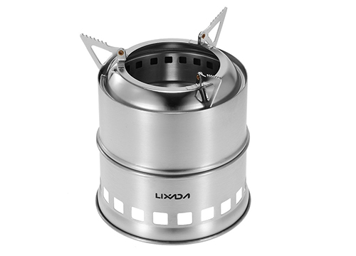LIXADA Stainless Steel Portable Wood Stove