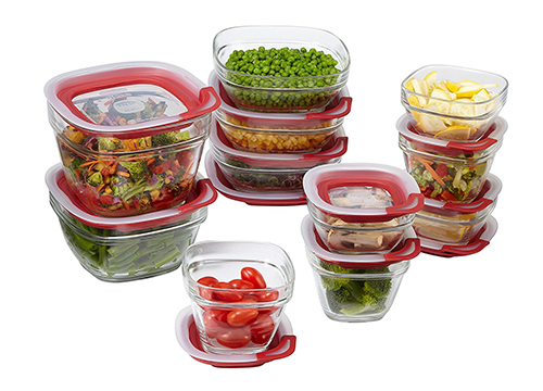 Rubbermaid Easy Find Lids Glass Food Storage Container, 22-Piece Set