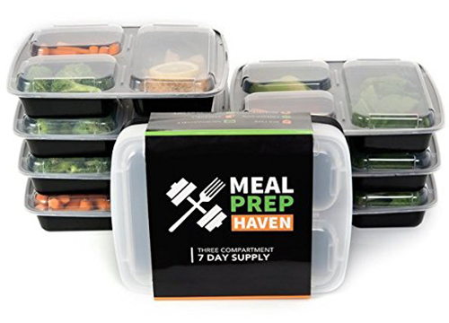 Meal Prep Haven 3 Compartment Food Containers