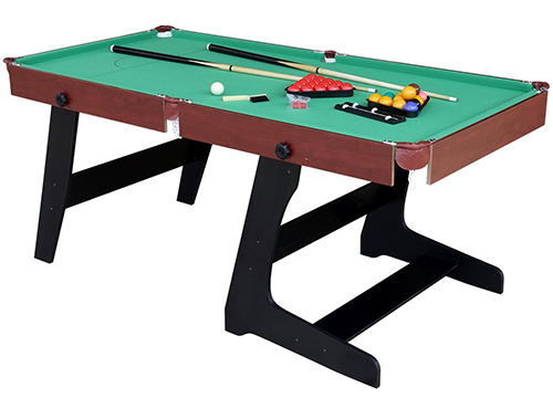 The HLC 6ft Green Foldaway Snooker/Pool Table with Snooker and Pool Ball Set