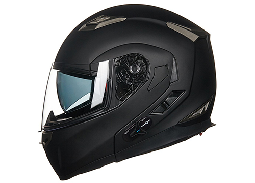 ILM Bluetooth Integrated Modular Flip Up Full Face Motorcycle Helmet Sun Shield Mp3 Intercom: