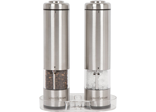 Latent Epicure Battery Operated Salt and Pepper Grinder Set: