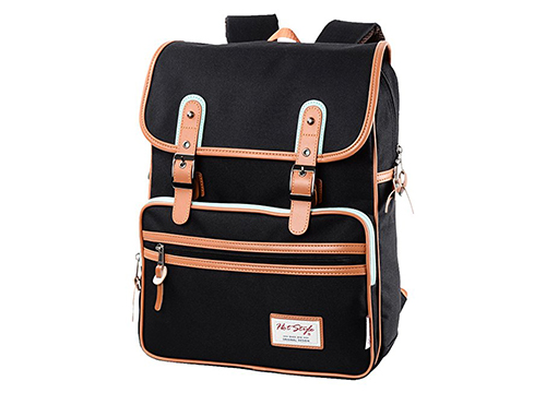 HotStyle Basic Classic SmileDay Vintage Laptop Backpack for College School: