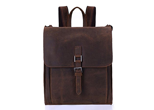 Morrivoe Vintage Genuine Leather Handmade Backpack: