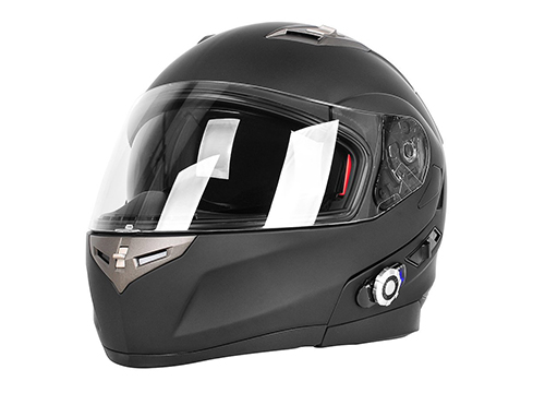 FreedConn Motorcycle Helmets, FreedConn Flip up Dual Visors Full Face Helmet with Built-in Bluetooth Intercom Communication System: