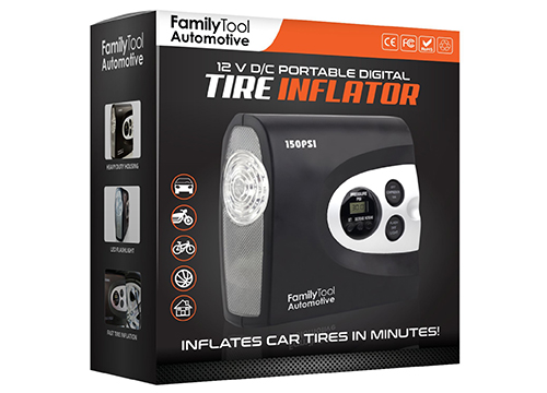 Family tool's tire inflator 2017 model